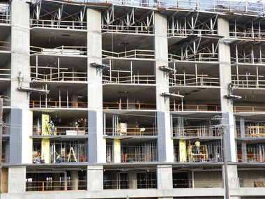 Developers of new Dallas-area projects won't have some of the buildings finished for a year or more, so they are pushing ahead.