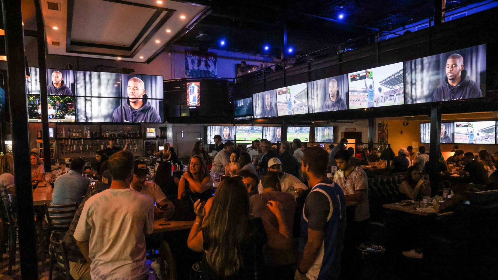 At Christies, a sports bar on Greenville Avenue in Dallas, you can watch several Olympic events at the same time.