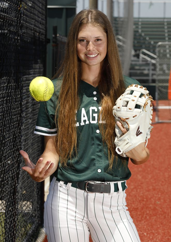 Elizabeth Moffitt if Prosper High School is the Dallas Morning News All-Area Softball Player of the Year, pictured on her home field at Prosper High School on Wednesday, June 16, 2021,.  (Stewart F. House/Special Contributor)