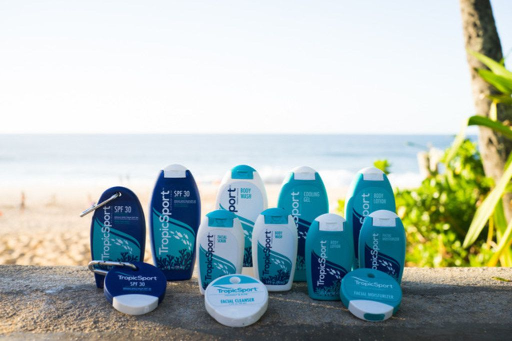 Native Australian turned Dallas resident Tony Palmer grew up surfing in Queensland. He and his wife, Lisa Palmer, started a sunscreen company to develop a safer, more natural alternative to chemical sunscreens. The company is called TropicSport.