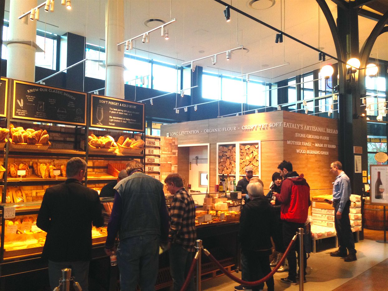 Breads and pastries at the Eataly in Las Vegas. The store is located at the entrance of the Park MGM Hotel.