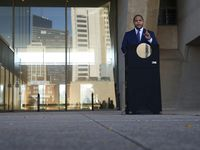 Mayor Eric Johnson speaks during a press conference in front of Dallas City Hall on Wednesday, November 18, 2020 in Dallas.