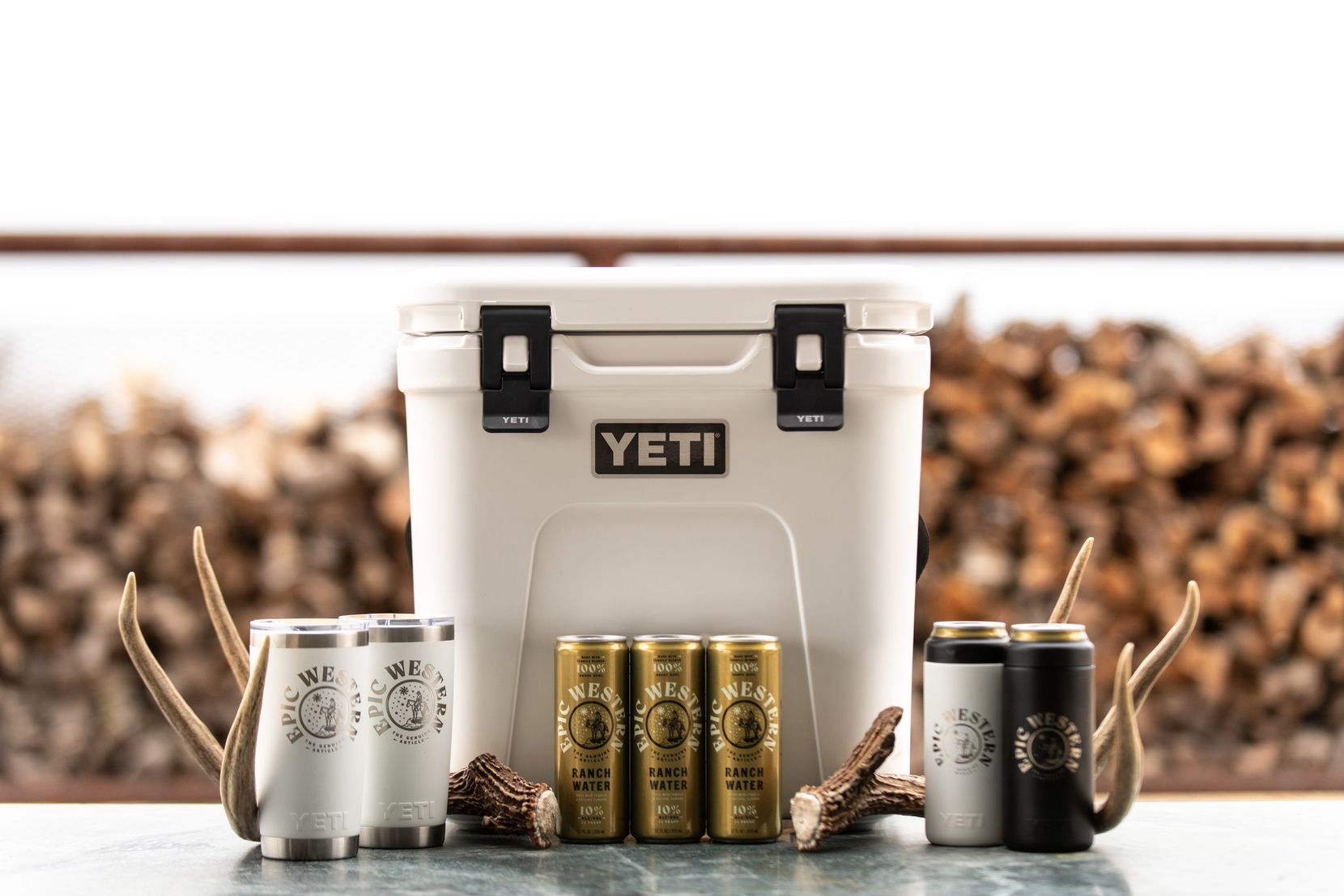 Epic Western ranch water is made with tequila and Mexican mineral water. YETI is an investment partner.