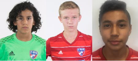 Antonio Carrera, George Medill, and Cesar Elizalde have been called into the latest US U15 camp.