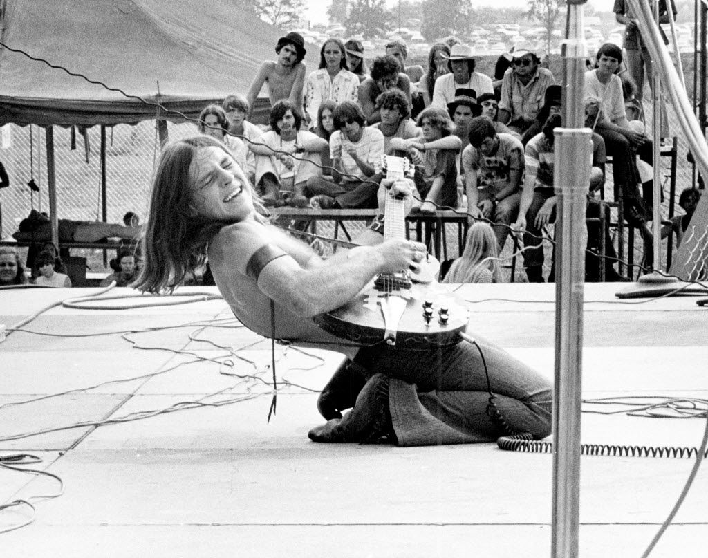 Mark Farner of Grand Funk Railroad opened the show each day for three days in the heat of the afternoon. (Dallas Public Library/Dallas History and Archives Division)