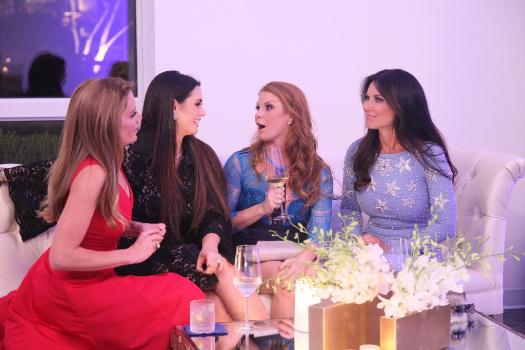 (From left) Cary Deuber, D'Andra Simmons, Brandi Redmond and LeeAnne Locken have a rare moment without eye rolls on The Real Housewives of Dallas.
