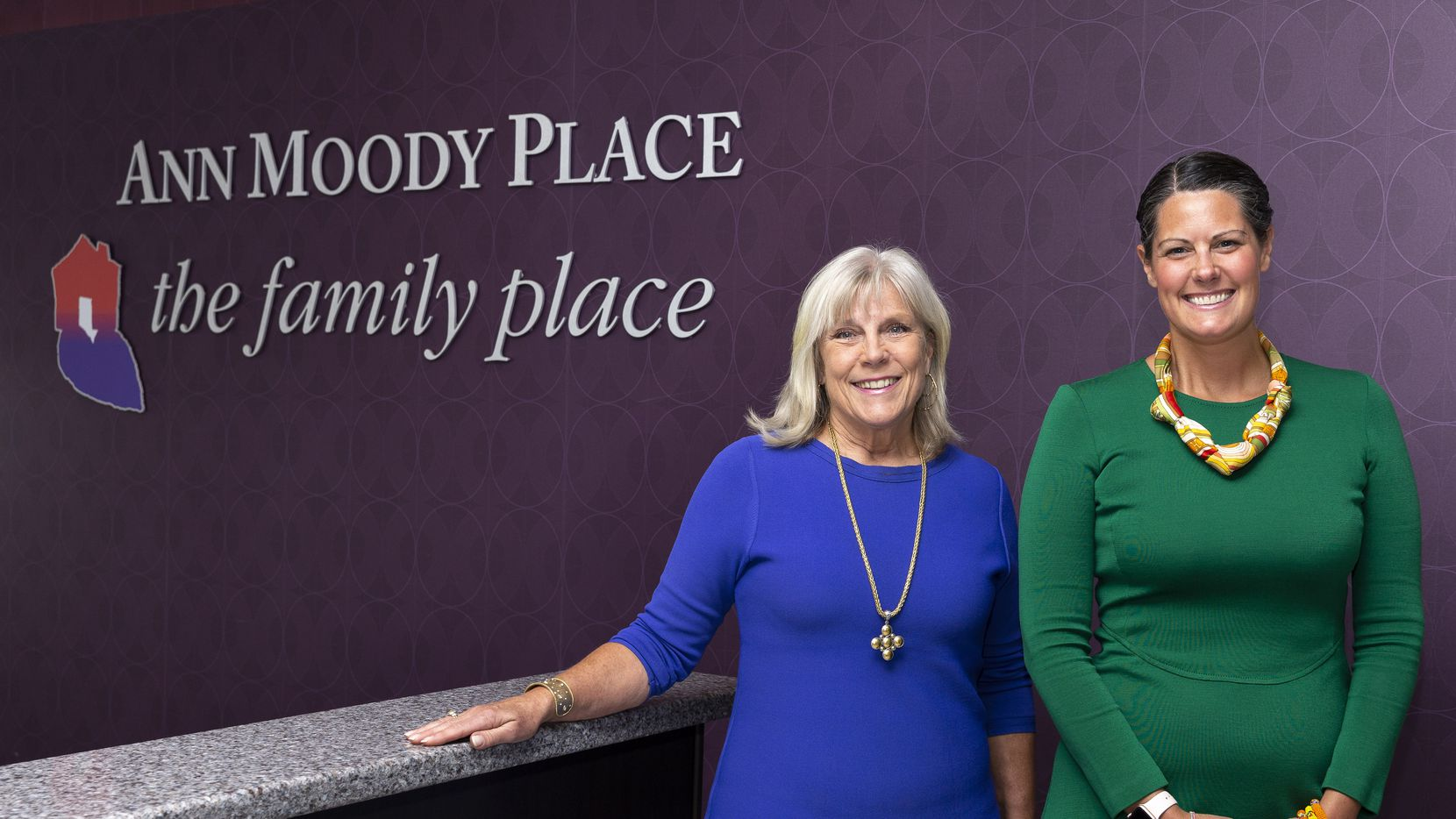 The Family Place CEO Paige Flink (left) is retiring, and Mimi Crume Sterling will take over as CEO in September.