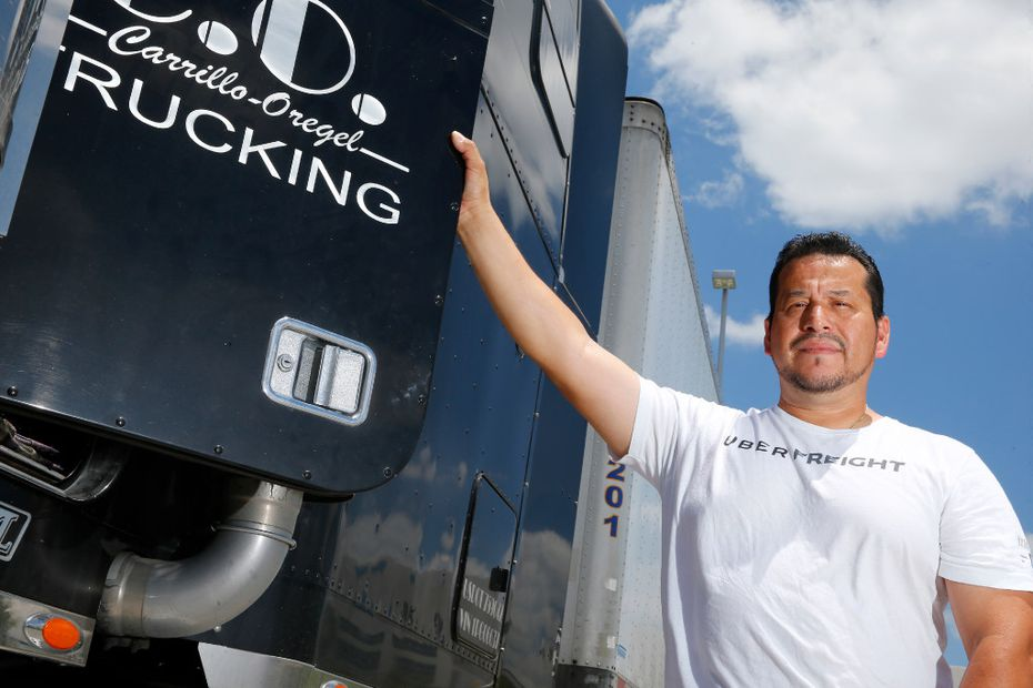 Sam Carrillo, an Arlington truck driver, says he almost exclusively uses apps to schedule work.