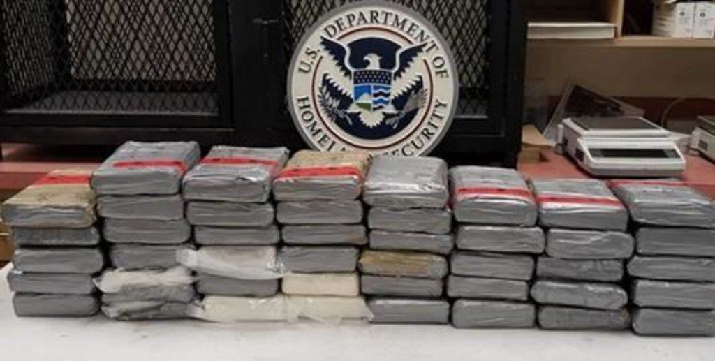 Packages containing 111 pounds of cocaine were seized Friday at the Colombia-Solidarity Bridge.