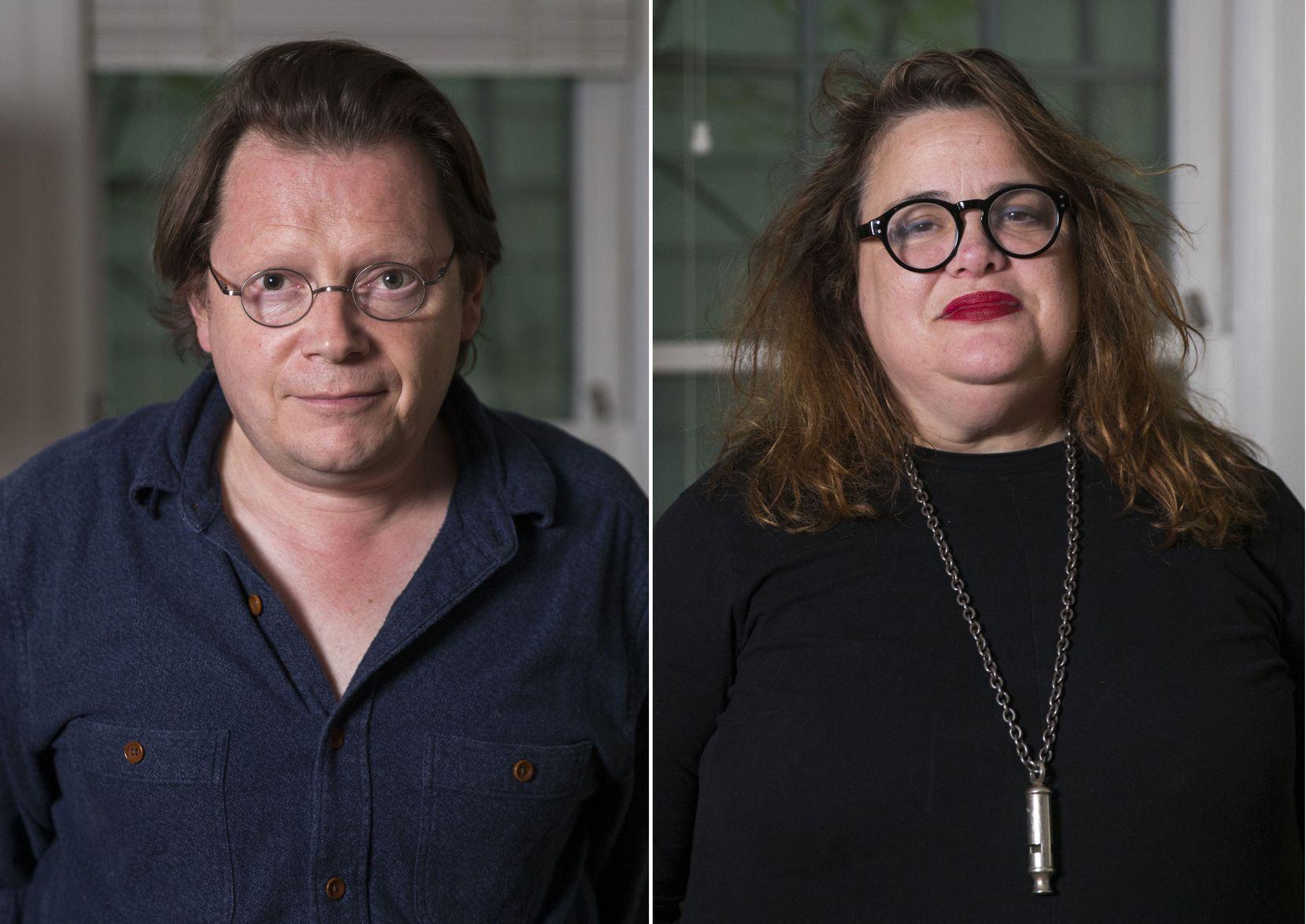 Authors Edward Carey and Elizabeth McCracken.