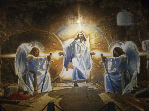 """""""The Resurrection"""" mural by Ron DiCianni, oil on canvas, on display at the Museum of Biblical Arts in Dallas"""