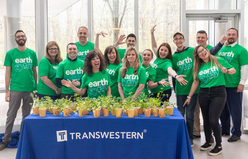 Transwestern team members celebrate Earth Day.