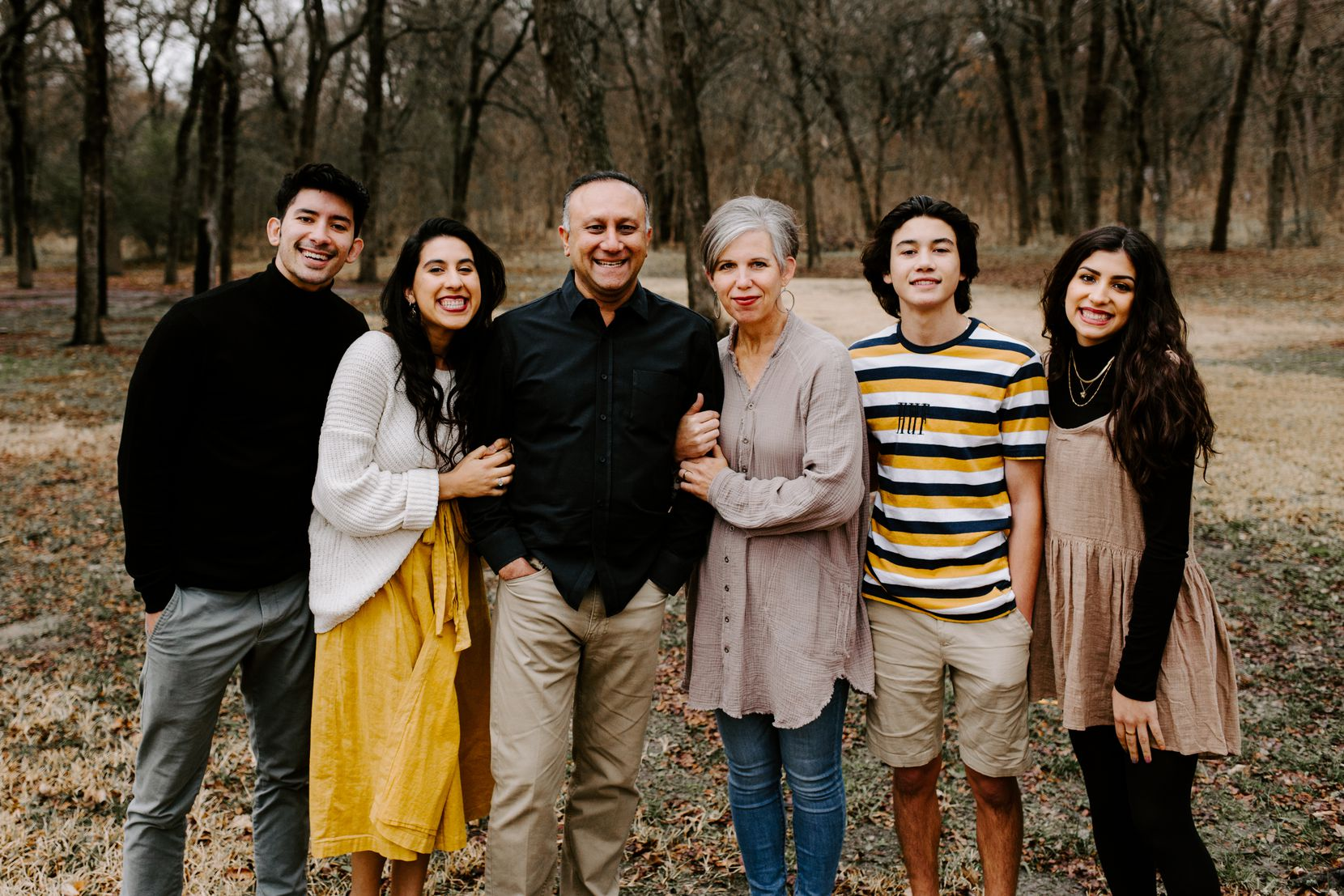 Ali and Judy Master (center) with their four children at Thanksgiving 2019. From left are Noah, 22; Mollie, 25; Isaac, 17; and Emma, 19.