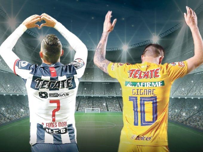 Rogelio Funes Mori (#7), de Rayados, y André-pierre Gignac (10) de Tigres, llegaron a Monterrey en el verano de 2015 y se han convertido en ídolos de sus respectivos equipos.