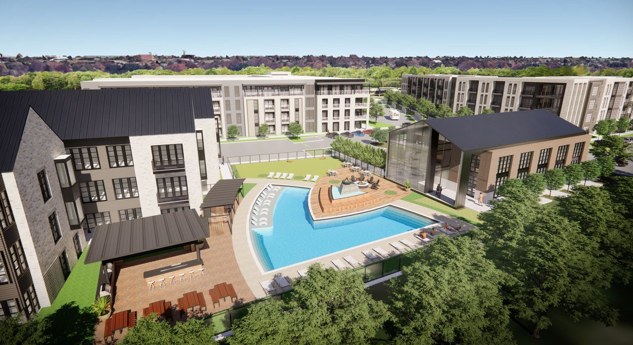 The Lenox Lake Highlands apartments are scheduled to open next summer.