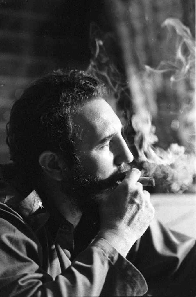 Fidel Castro was interviewed in one of his Havana apartments in 1964.