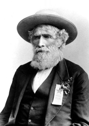 """William Alexander Anderson Wallace, known as """"Bigfoot Wallace."""" His nickname is spelled both """"Bigfoot"""" and """"Big Foot"""" in various sources."""