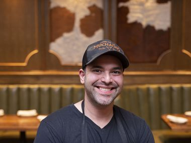 Omar Flores is the chef of Muchacho, the new tex-mex restaurant at the Plaza at Preston Center in Dallas, Texas, Tuesday, November 19, 2019. (Allison Slomowitz/ Special Contributor)