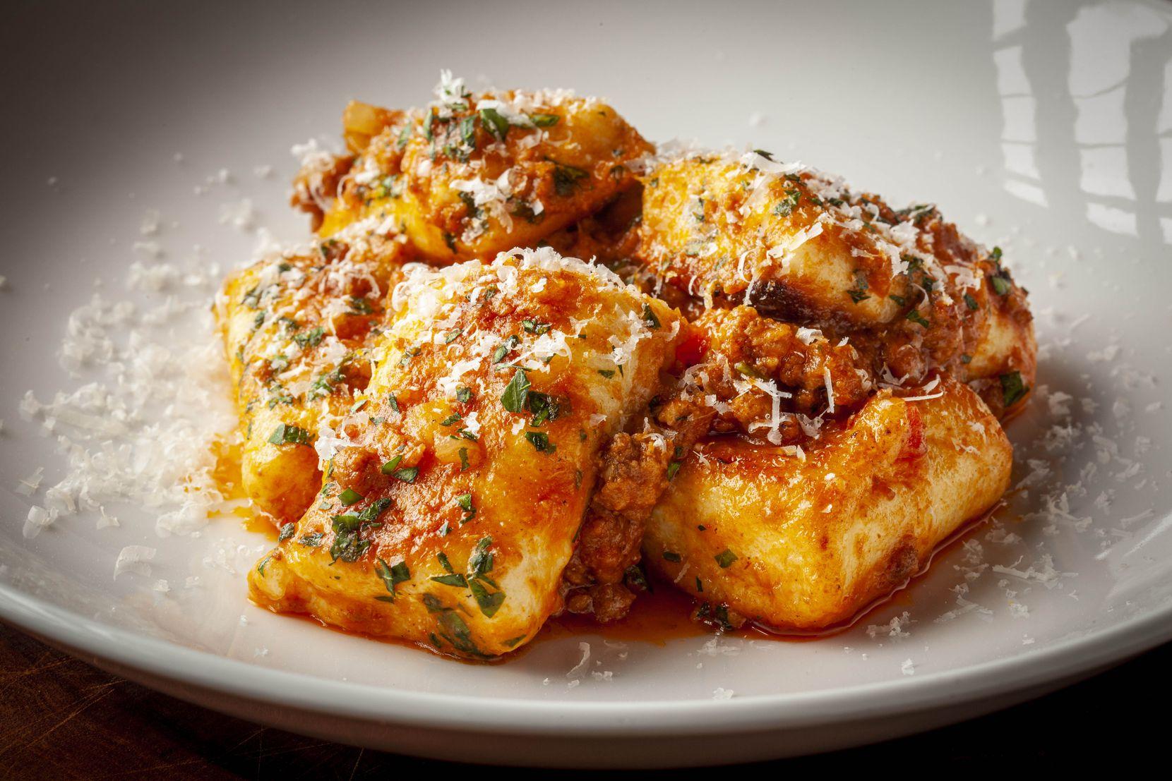 Sauteéd Ricotta Gnocchi With Bolognese from Black Cur Steak