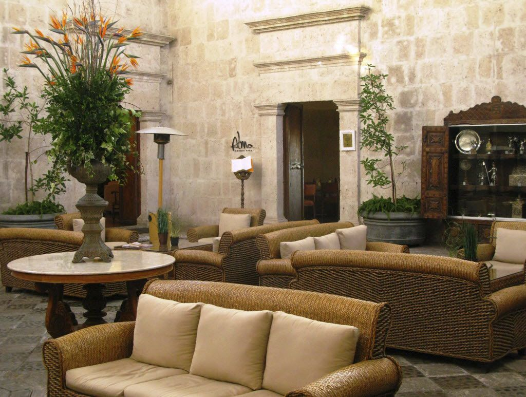 __ Caption: The open-air courtyard of Casa Andina Hotel in Arequipa provides guests with a comfortable gathering or relaxing spot secluded from the hustle and bustle of the city.PERUHOTEL Email: beburmeier@austin.rr.com Phone: 512-261-1173  Byline: Beverly Burmeier Submitter: Beverly Burmeier Timestamp: 2013-02-20 17:24:13 Section: TRAVEL_NTR