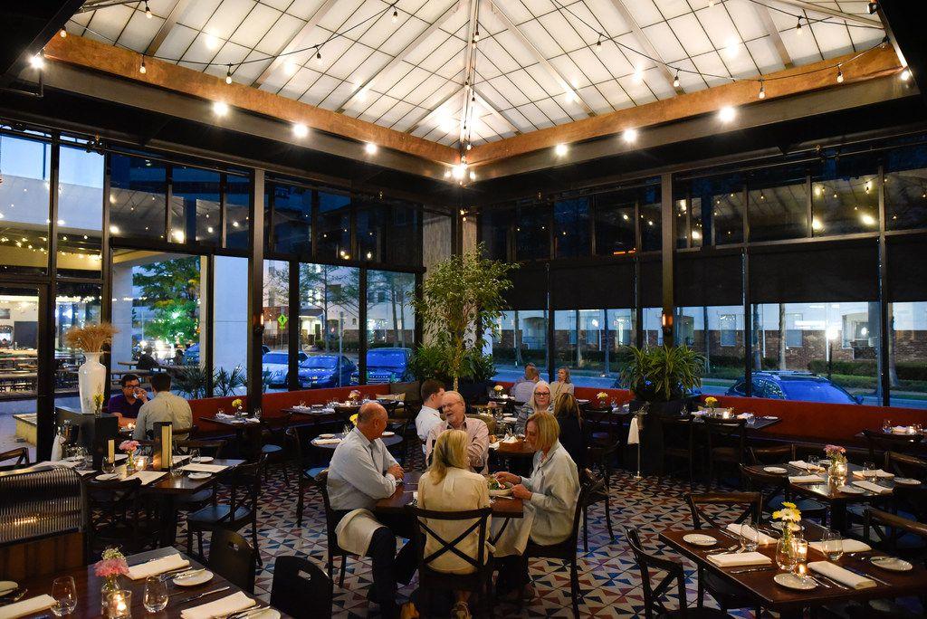 The main dinning room inside the Italian restaurant Mille Lire in Uptown Dallas, Thursday April 04, 2019.