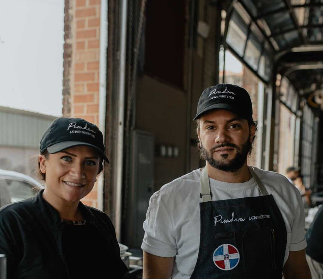 Michael Tavarez runs Picadera, a Dominican street food concept in Dallas, with his fiance Jennifer Weil.