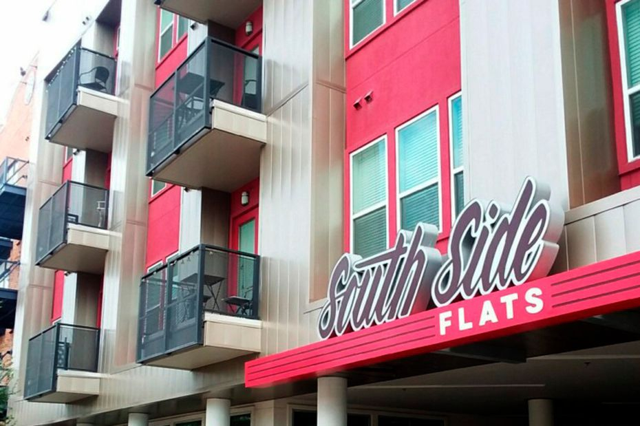 South Side Flats is shown in this Sept. 7, 2018, photo. The family of Botham Jean plans to file a lawsuit against South Side, saying a confusing floor layout and faulty doors contributed to Jean's fatal shooting by former Dallas police officer Amber Guyger.