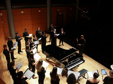 J.D. Burnett, who is pictured here conducting a choir at the University of Georgia, has been selected as the next artistic director of the Orpheus Chamber Singers.