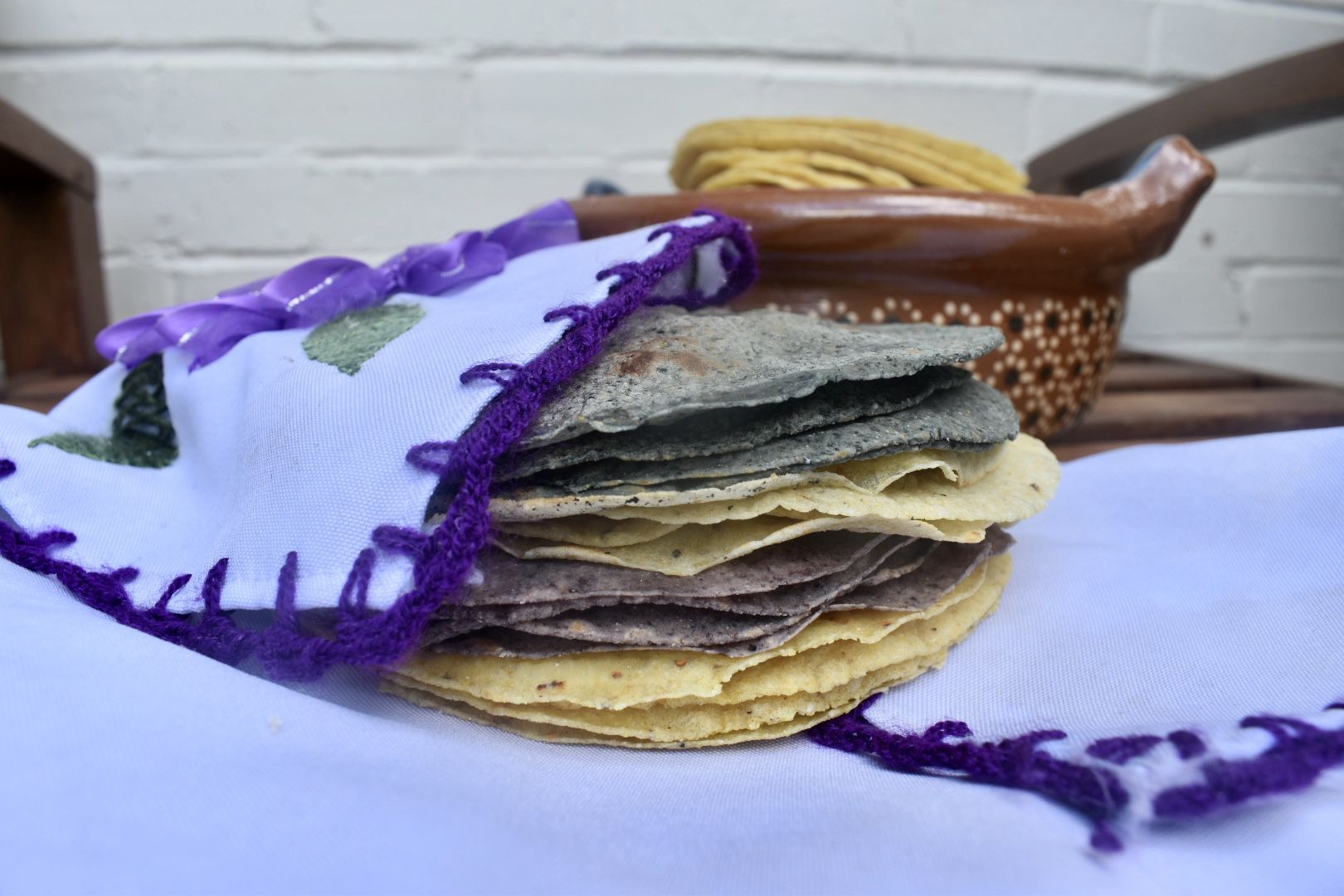 Edith Rangel of Sacred Heart Sweets specializes in blue corn tortillas