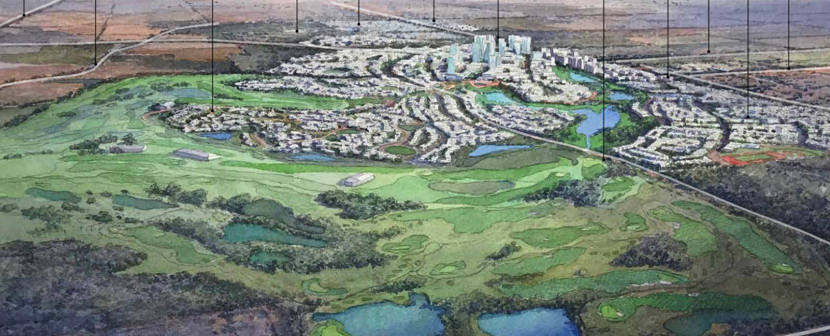 The 2,500-acre Fields development stretches from Preston Road across the tollway and up to U.S. 380.