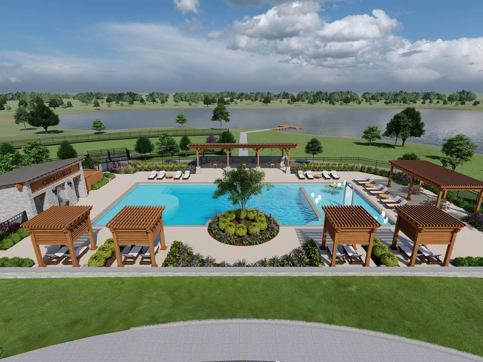 The Cibolo Hills community will include a community center with pool.