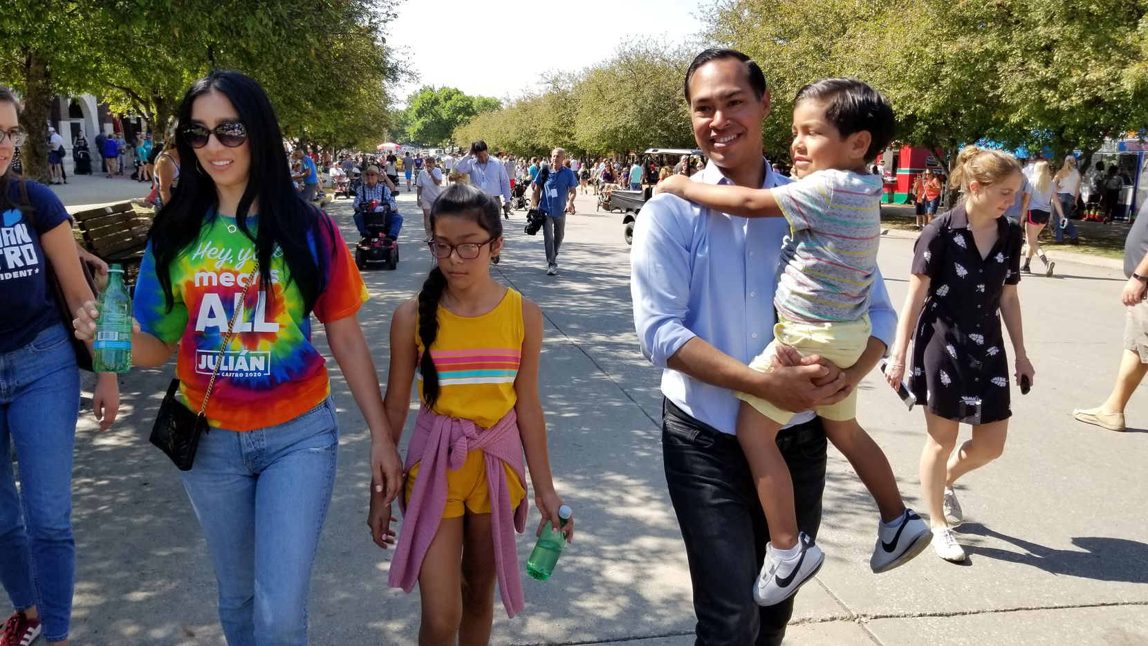 The Castro family at the Iowa State Fair on Aug. 9, 2019: Erica and Julián Castro, their daughter Carina, 10, and son Cristián, 4.