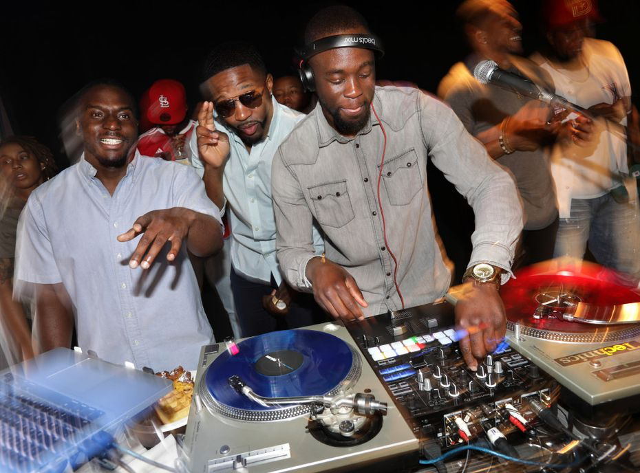 DJ Spoon (left), chef Kev and DJ Nitecrawler attended the Good Culture event Bangers & Brunch in Dallas.