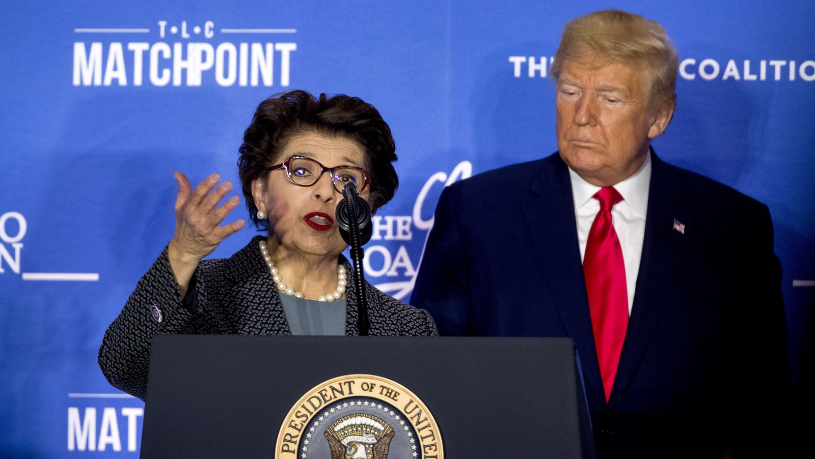 President Donald Trump invited Small Business Administration Administrator Jovita Carranza to speak at the Latino Coalition Legislative Summit at the JW Marriott March 4 in Washington.