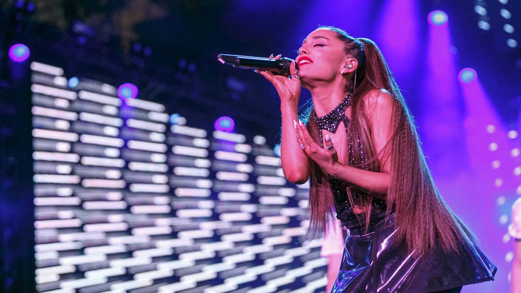 Ariana Grande performs onstage during the 2018 iHeartRadio Wango Tango by AT&T at Banc of California Stadium on June 2, 2018 in Los Angeles, Calif.