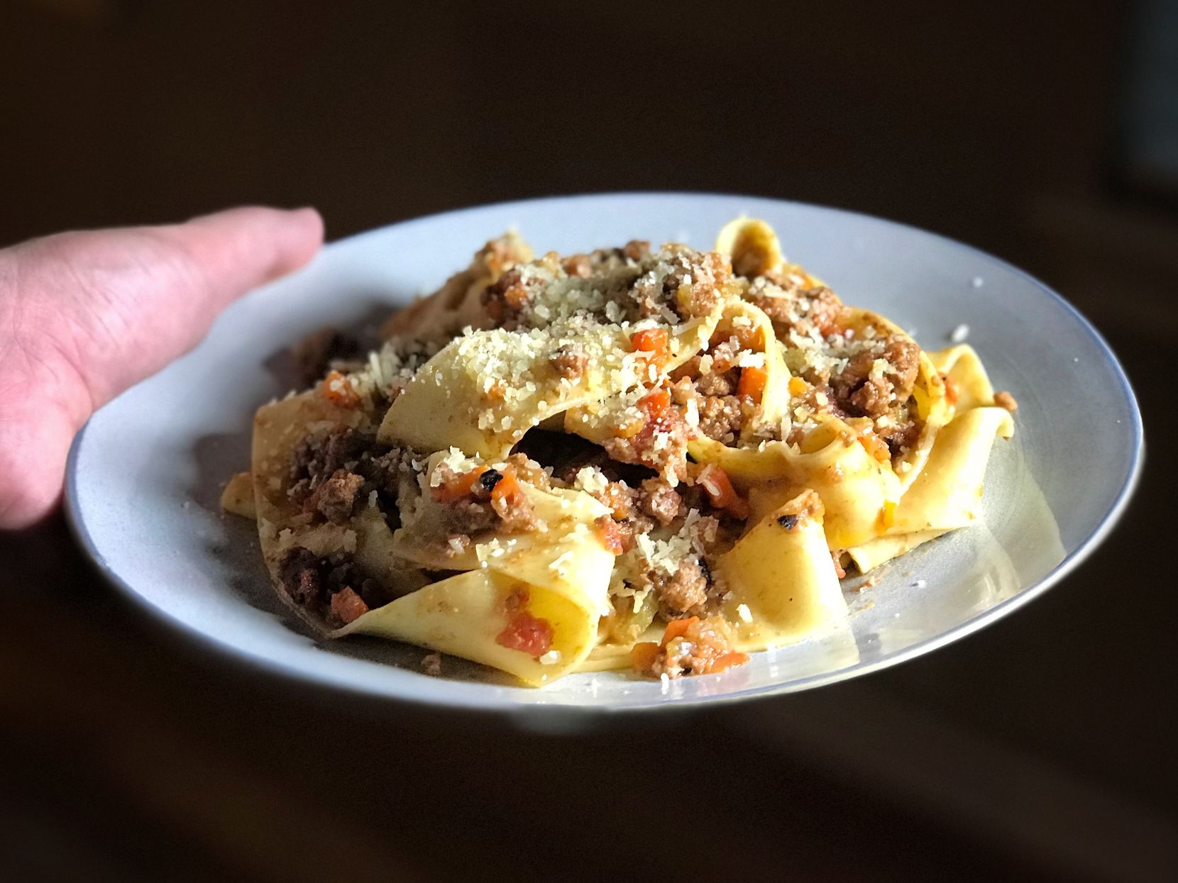 Pappardelle with Ragu Bolognese