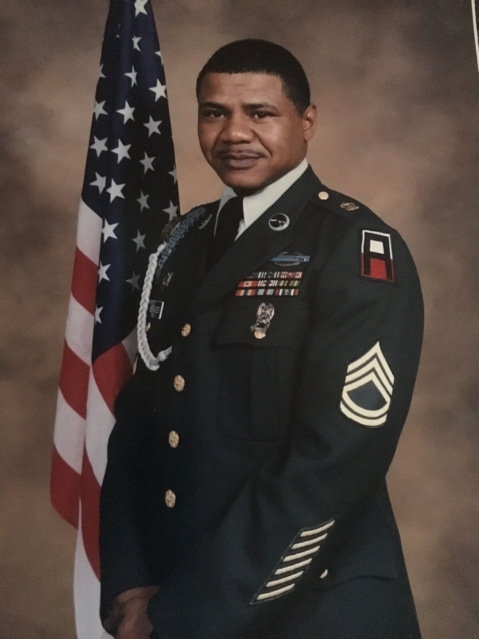 U.S. Army Sgt. Larry Alexander enlisted in 1974 and had a 20-year military career. He served in Germany, Saudi Arabia and Iraq and was stationed at Fort Hood and in Alaska and Massachusetts. He now works for DeSoto ISD.