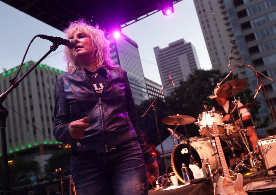 Lucinda Williams performs during the Old 97's County Fair at Main Street Garden in Dallas.