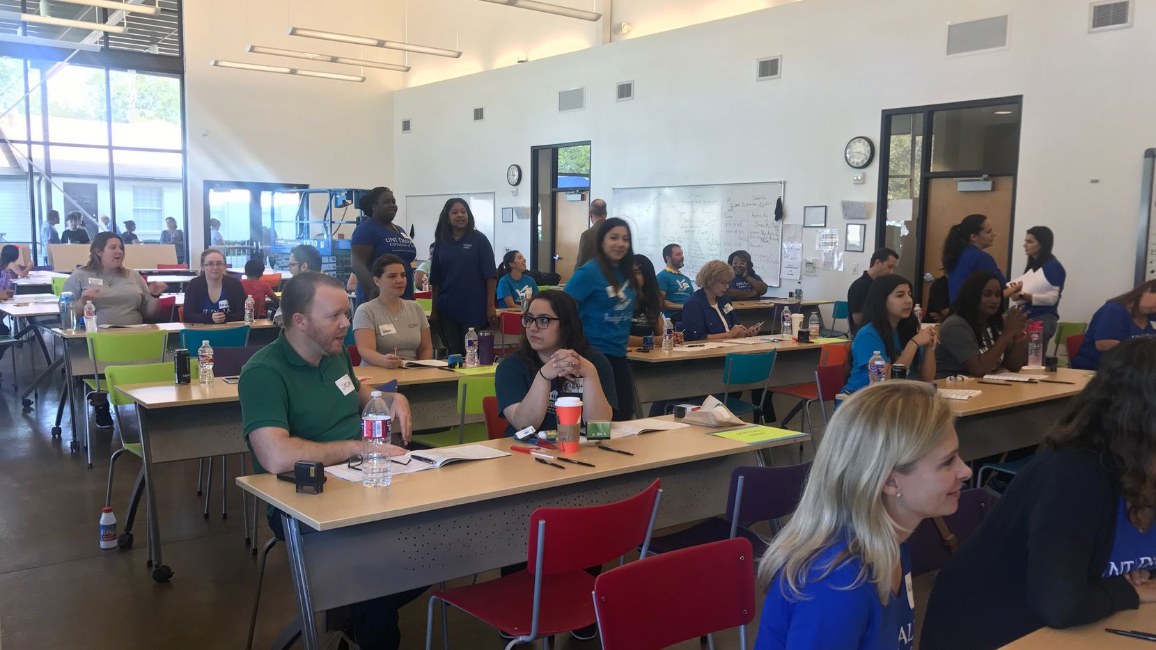 The University of North Texas at Dallas' College of Law held a power-of-attorney session at Jubilee Park Community Center in September. (Elvia Limon/Staff)