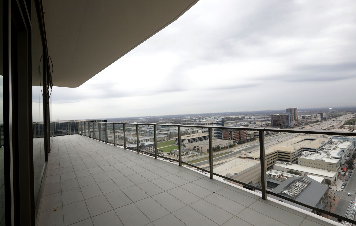 A balcony view at Windrose Tower in Plano. (Jason Janik/Special Contributor)
