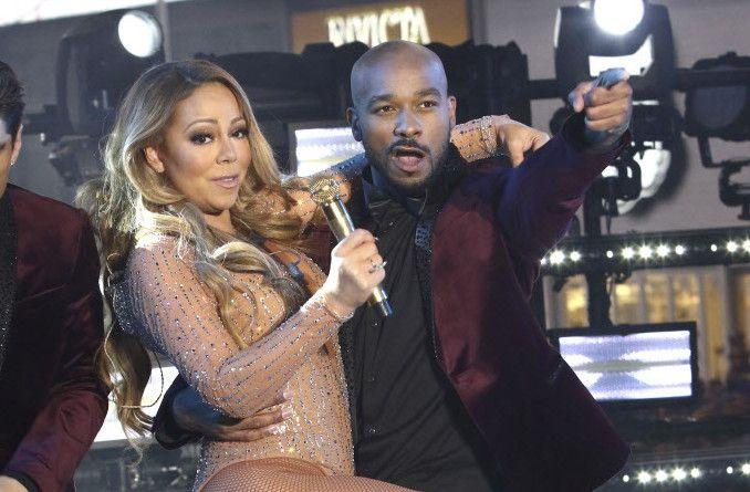 Mariah Carey se presentó en el la fiesta de Año Nuevo en Times Square, el 31 de diciembre de 2016, en Nueva York. (Foto de Greg Allen/Invision/AP)