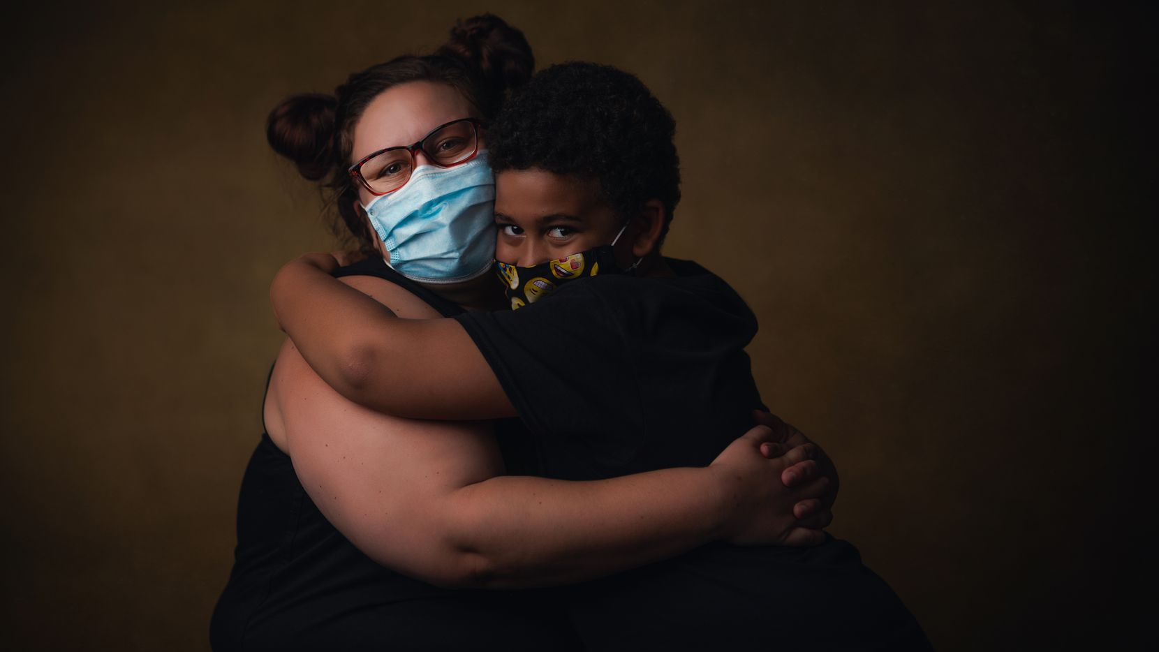 Kristen Brewer and Kalique Horton  Residents, Dallas Life, Portraits of Staff and Residents after Covid19 re-entry, May 2020