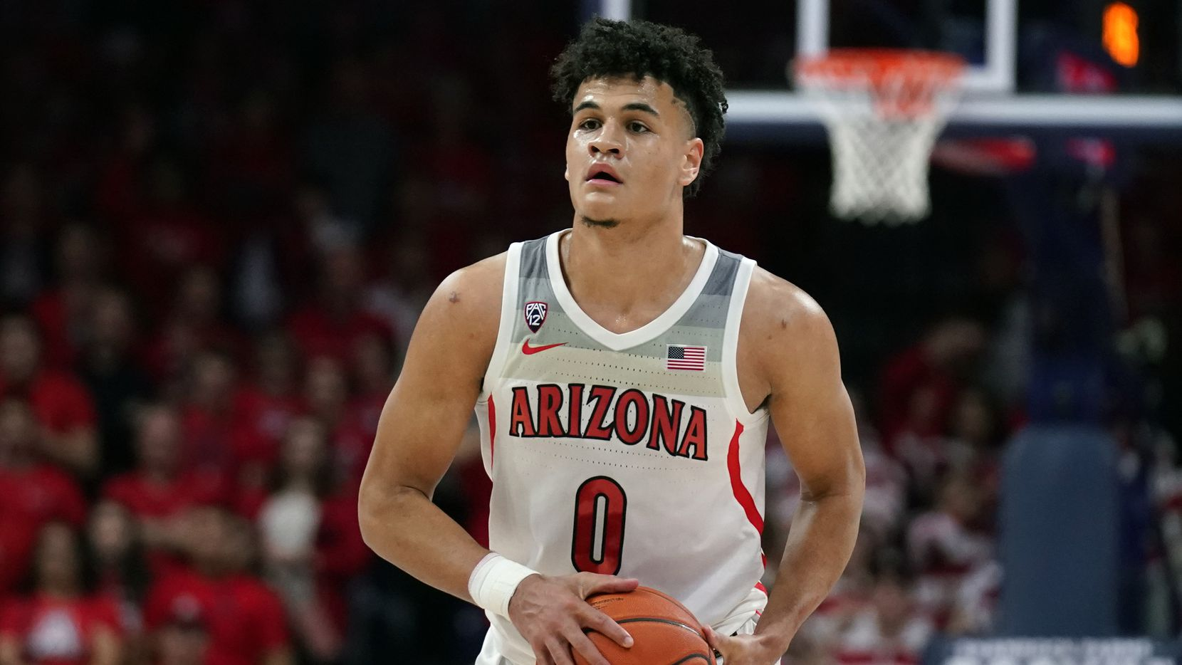 Arizona guard Josh Green (0) in the first half during an NCAA college basketball game against Arizona State, Saturday, Jan. 4, 2020, in Tucson, Ariz. (AP Photo/Rick Scuteri)