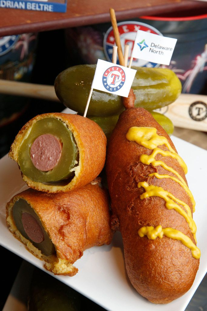 It looks like a corny dog on the outside, but the Dilly Dog has a full-sized dill pickle and a hot dog on the inside.