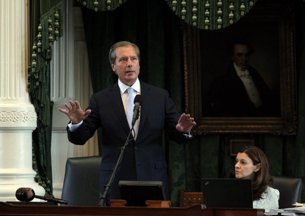 Lt. Gov. David Dewhurst made a procedural ruling as state Sen. Wendy Davis filibustered during the final day of the legislative special session on June 25, 2013.