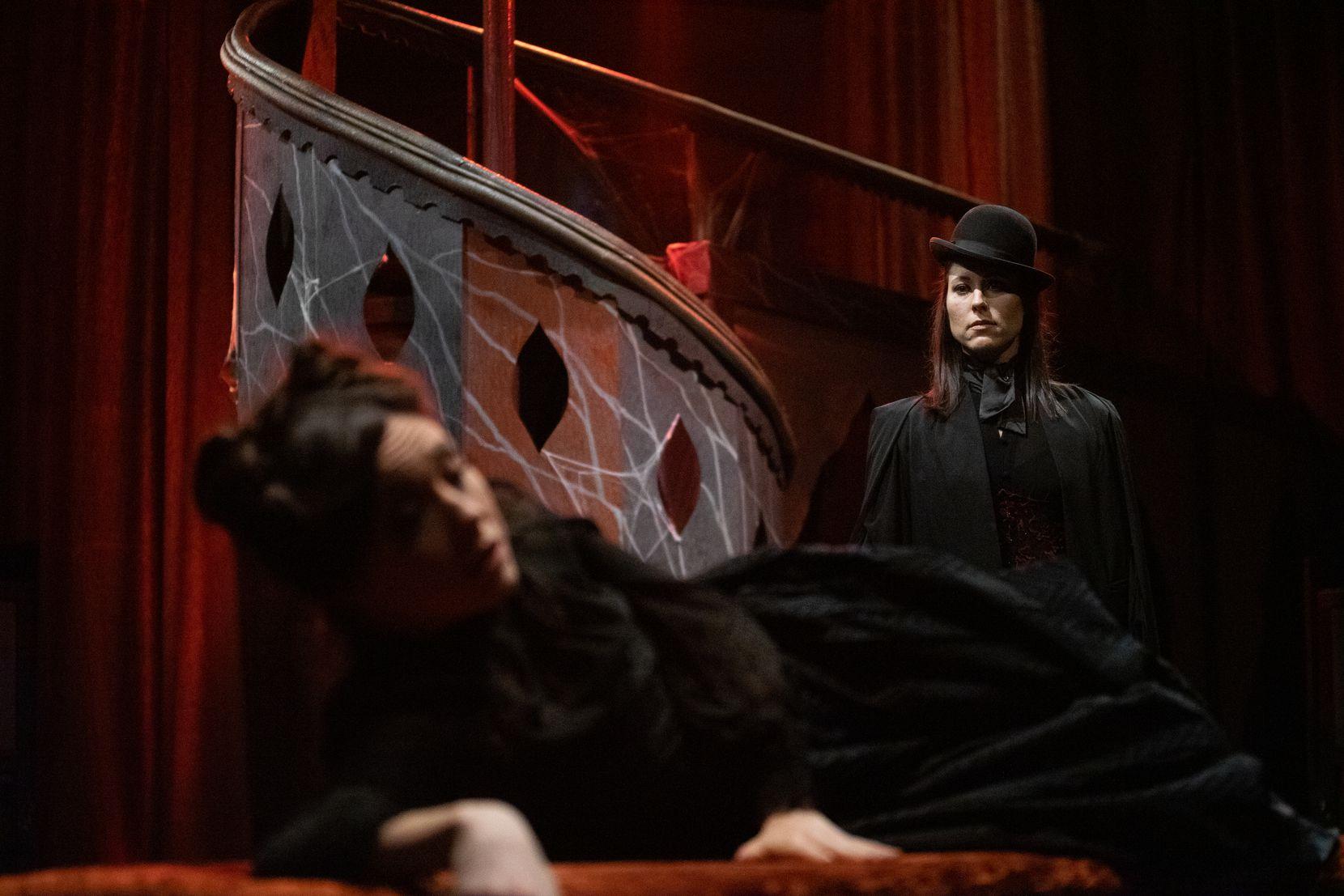 "Allison Pistorius (right) stars in ""Dracula"" at Theatre Three."