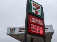 Gas price at a 7-Eleven gas station at Abrams Road in Dallas in May.