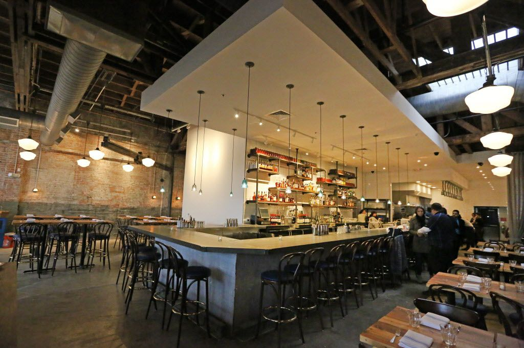A look at the bar area at the new restaurant, Filament, at 2626 Main Street in Deep Ellum in Dallas, photographed on Tuesday, December 1, 2015. (Louis DeLuca/The Dallas Morning News)