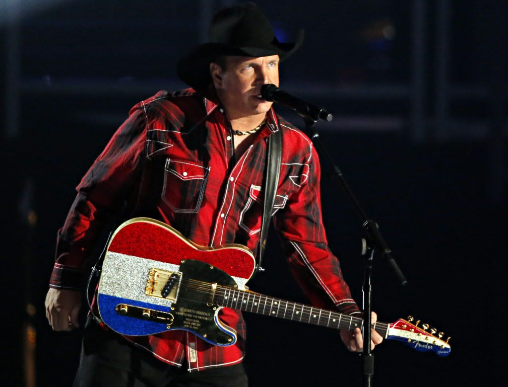 Garth Brooks performs during the 2015 Academy of Country Music Awards Sunday, April 19, 2015 at AT&T Stadium in Arlington, Texas.