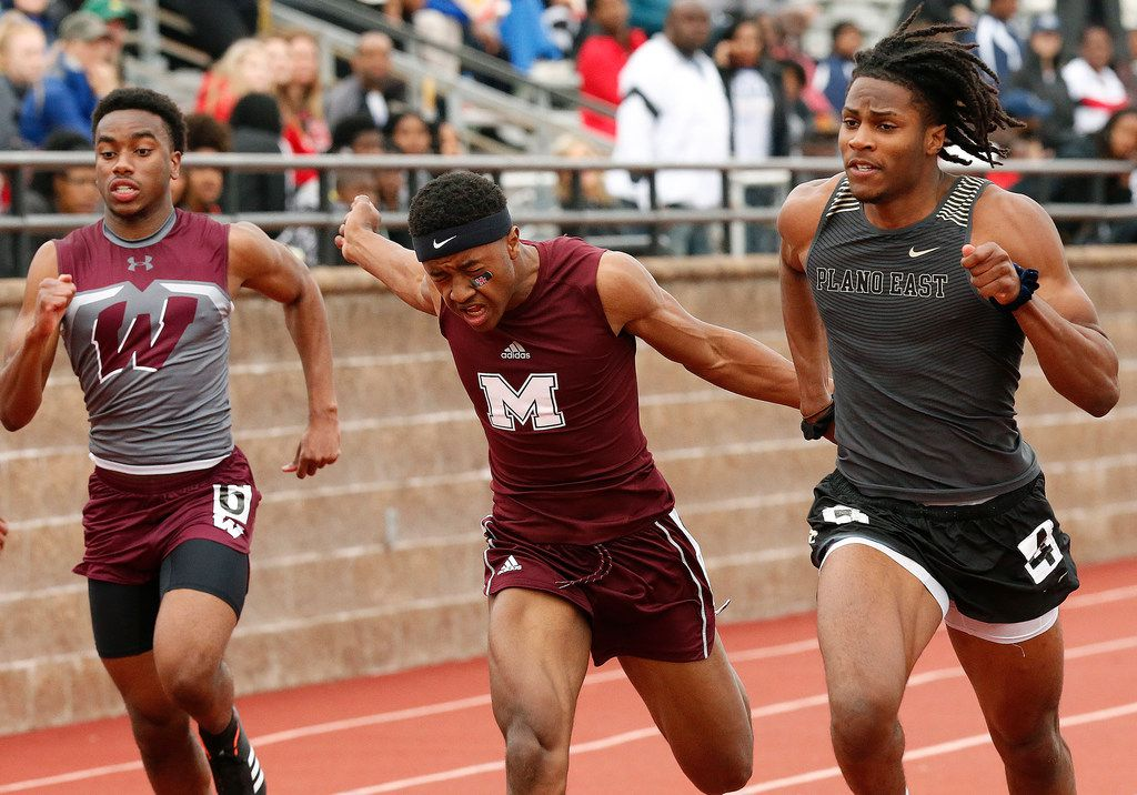 Tyler Owens (right) of Plano East will face some great competition in the boys 100-meter dash at the Class 6A Region II meet. Four qualifiers have run 10.45 or faster, led by Owens' season-best time of 10.29.  (Stewart F. House/Special Contributor)